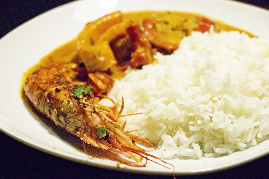 Red Curry Prawns